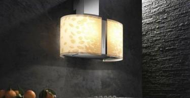 Стильная вытяжка с подсветкой в интерьере кухни