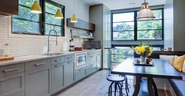 Впечатляющий дизайн интерьера кухни