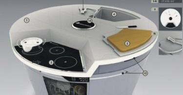 Круглая кухня Round cupboard