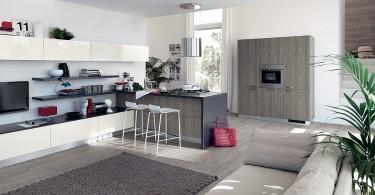 Элегантный кухонный гарнитур итальянской фирмы Scavolini