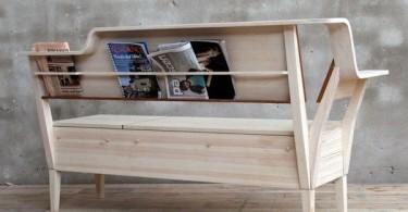 Деревянная скамья På Sofflocket