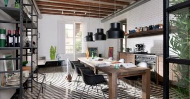 Дизайн кухни с индустриальными мотивами