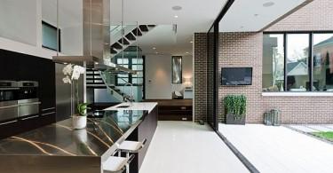 Современный дизайн кухни со столешницей