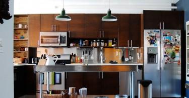 Кухонный остров из нержавеющей стали