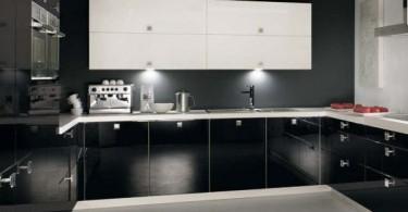 Стильный дизайн немецкого гарнитура в интерьере кухни