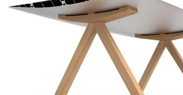 Алюминиевый стол в индустриальном стиле