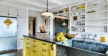 Габаритная раковина в кухне