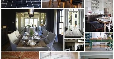 Фотоколлаж: отреставрированные столики в деревенском стиле