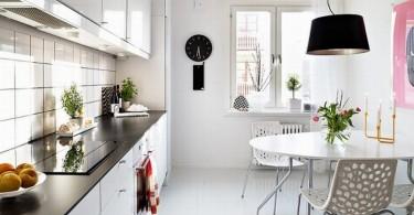 Роскошный дизайн белой кухни