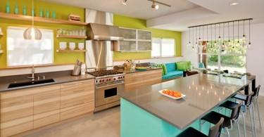 Яркий дизайн интерьера современной кухни
