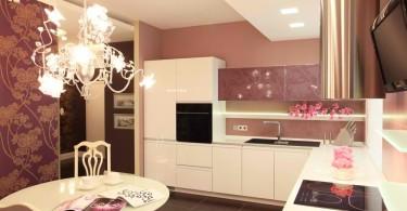 Восхитительный дизайн угловой кухни