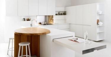 Оригинальный дизайн кухонного острова