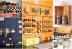 Фотоколлаж: оригинальные кухонные полки и конструкции