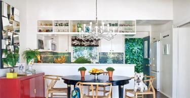 Дизайн кухни в эклектичном стиле с яркими акцентами