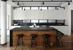 Уникальный лофт-проект интерьера кухни
