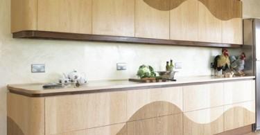 Изысканный дизайн деревянной кухни
