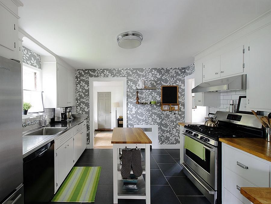 Креативные обои в стильном интерьере кухни от E.R. Miller