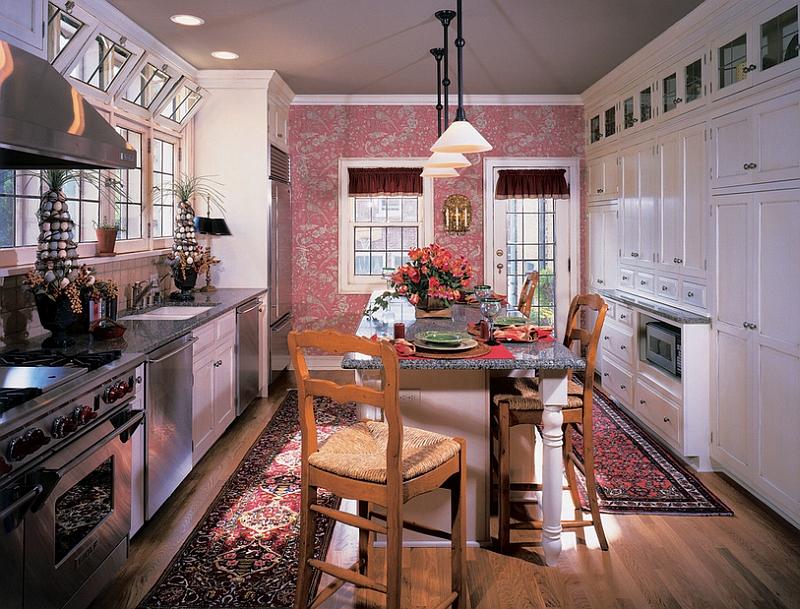 Креативные обои в стильном интерьере кухни от Kleppinger