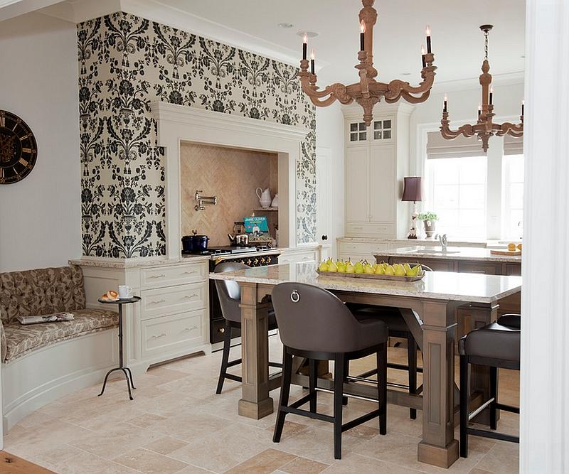 Креативные обои в стильном интерьере кухни от McBurney Junction