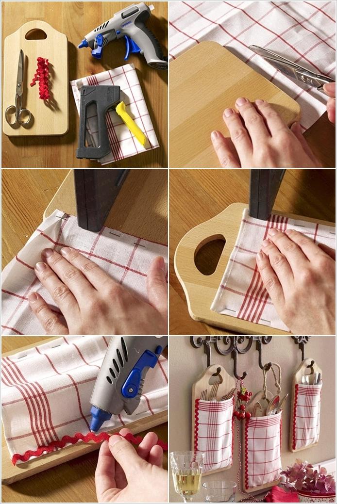 Доски-карманы для хранения на кухне