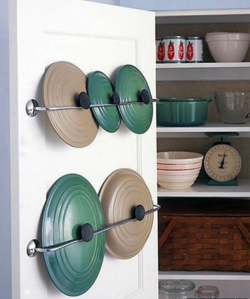 Хранения крышек на дверцах шкафа