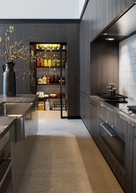 Светло-черная кухня