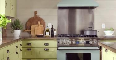 Оригинальный дизайн интерьера кухни в стиле шейкер