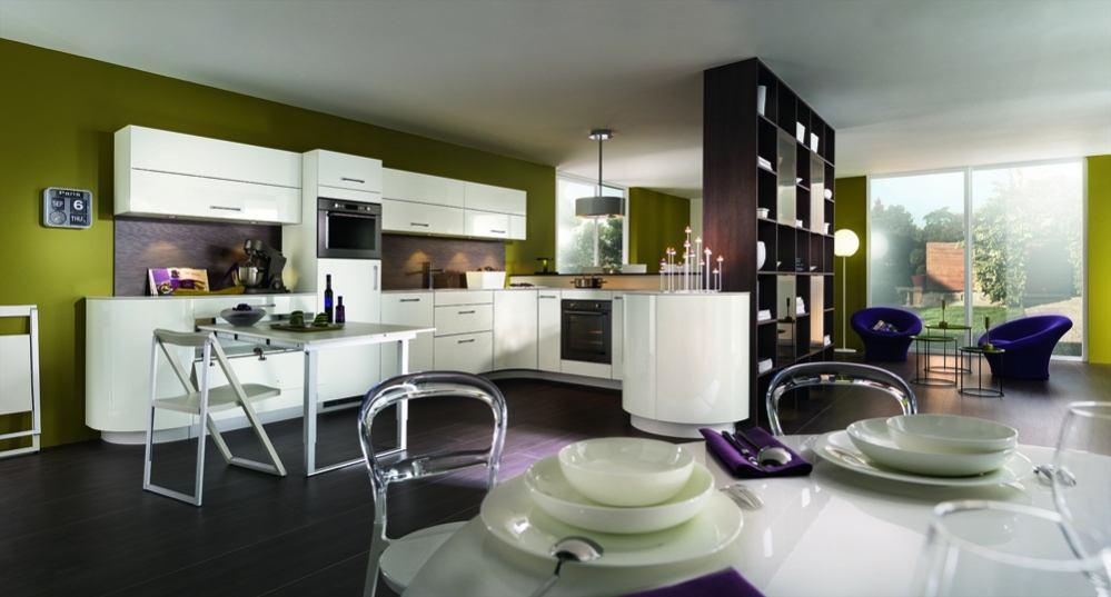 Кухонная мебель в белом цвете