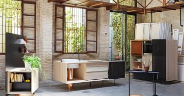 Изысканный дизайн кухонной коллекци мебели FLOAT от Miras
