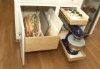 Выдвижные ящики для хранения кухонной утвари и мелкой техники