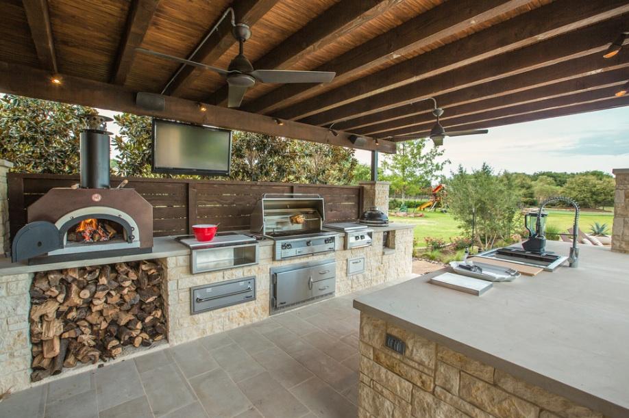 Печка на летней кухне