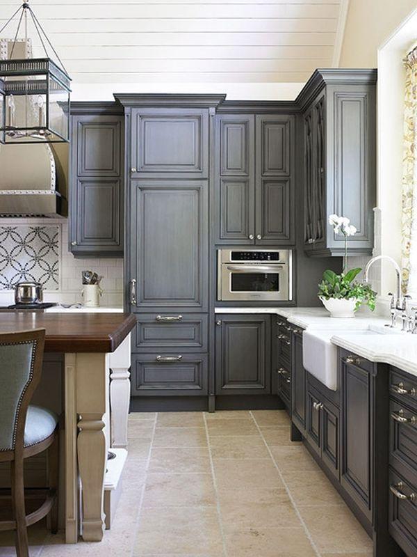 Дизайн интерьера кухни в серой гамме