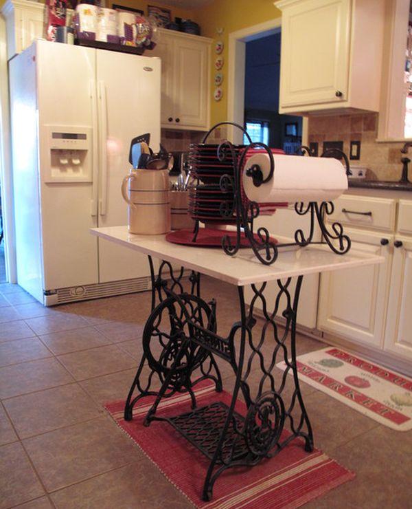 Оригинальный дизайн кухонного острова в стильном интерьере кухни