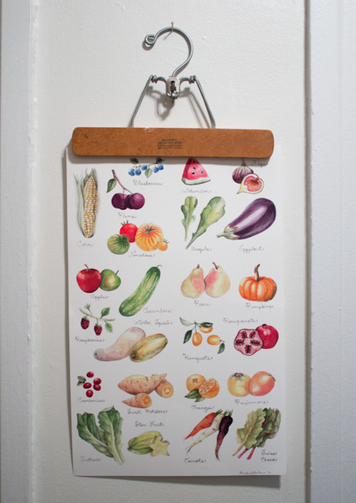 Яркая картина с изображением овощей в качестве декора кухни