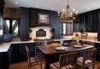 Чёрный цвет в кухонном интерьере