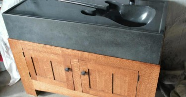 Уникальная раковина в форме гитары от Pearidge Concrete & Crafts