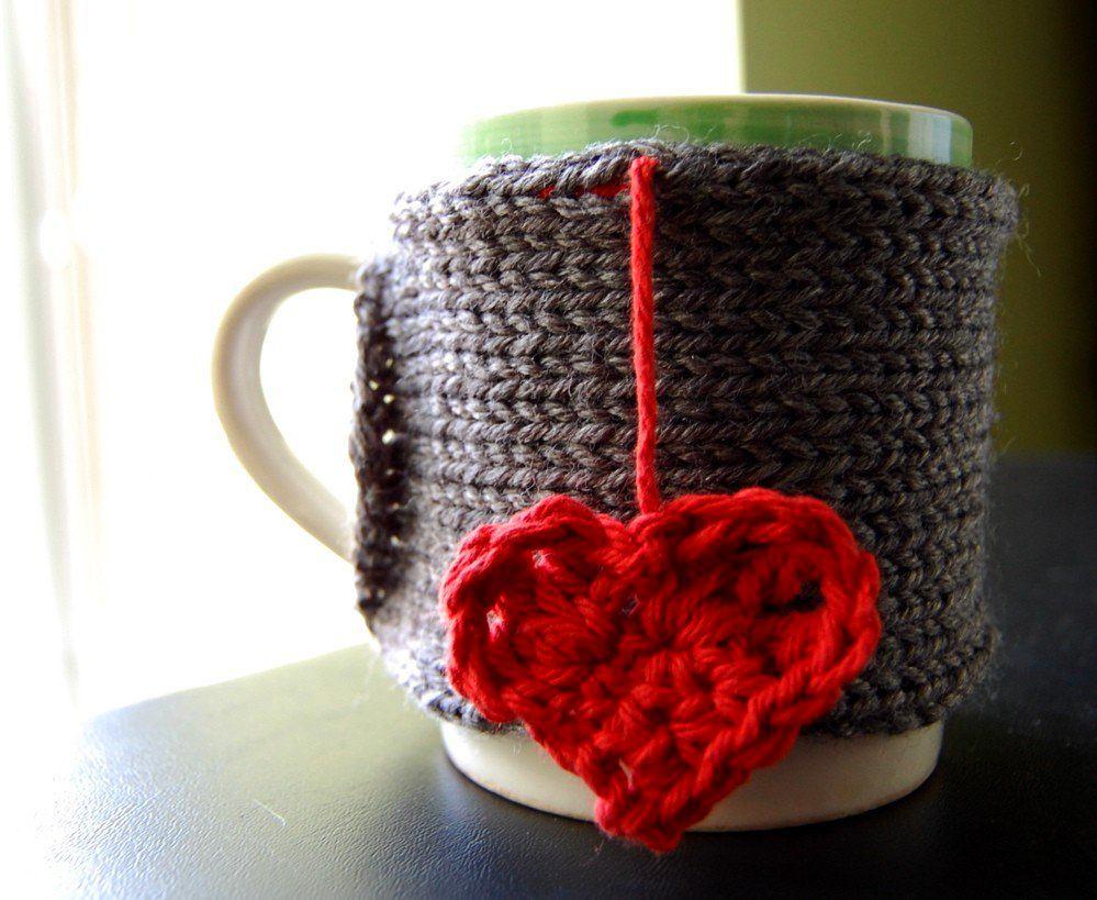 Чехол для чашки в сером цвете