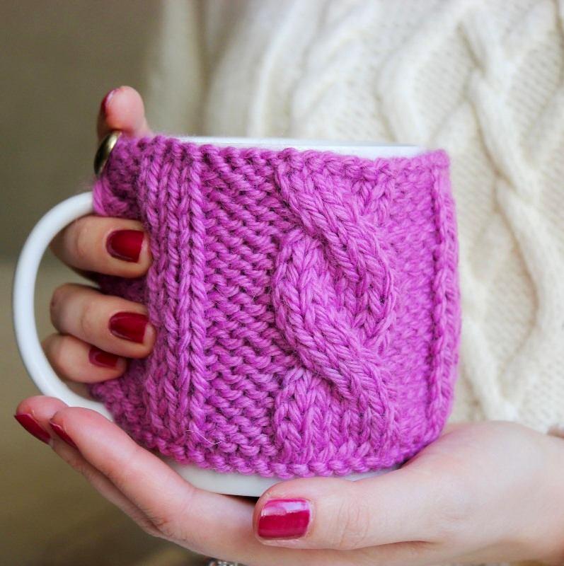 Фиолетовый чехол для чашки
