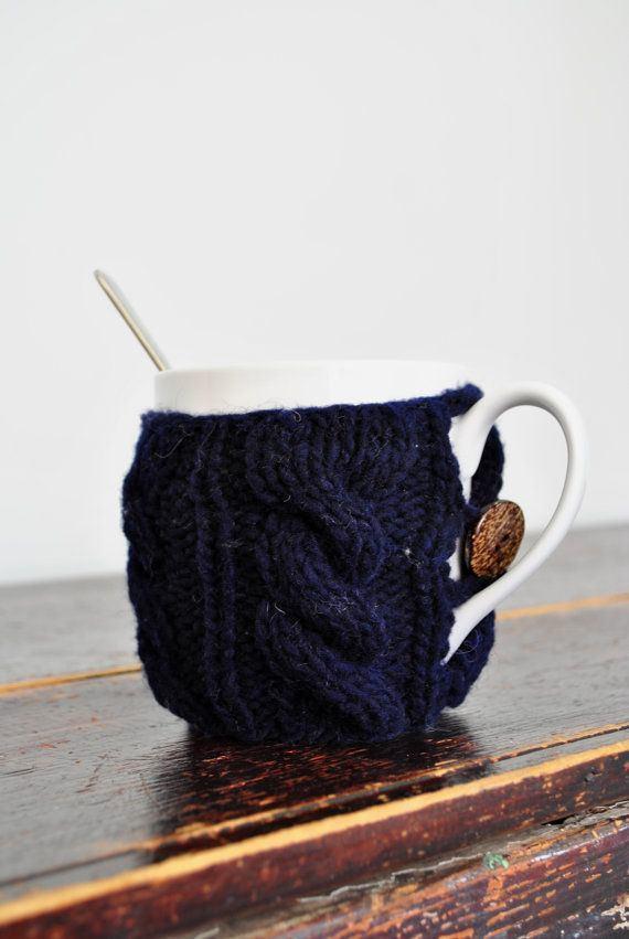 Синий чехол для чашки