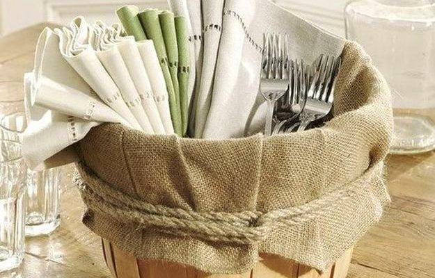 Ведро с мешком для столовых приборов