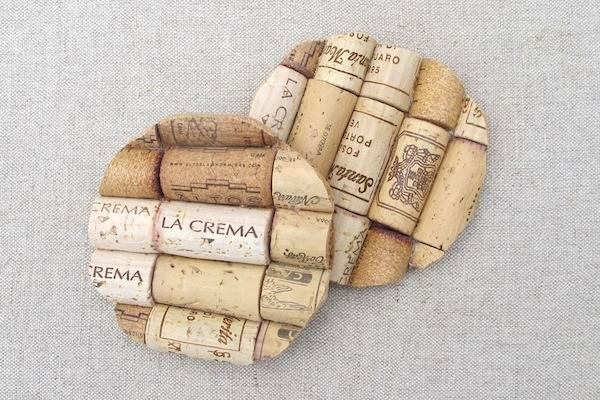 Подставки под чашки из винных пробок
