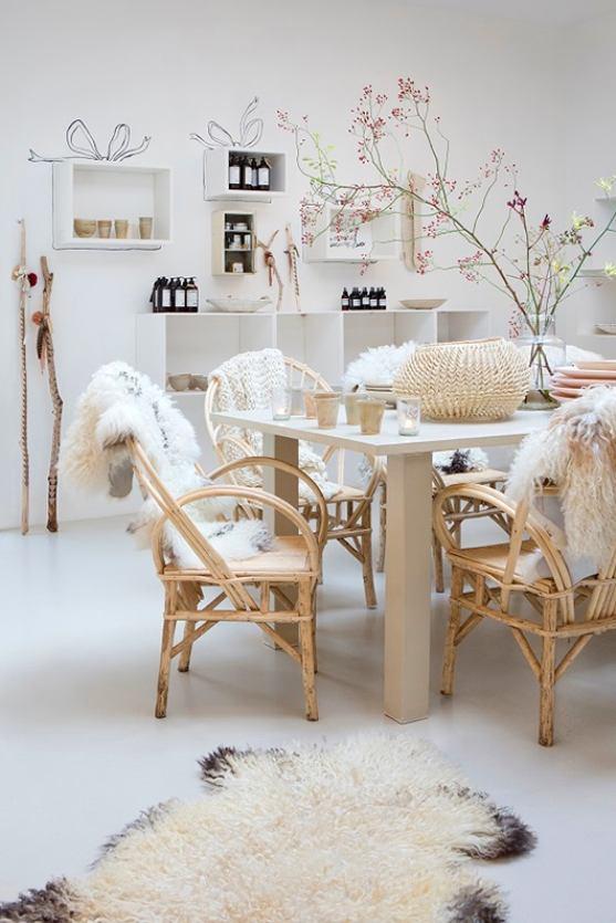 Чехлы для стульев из меха