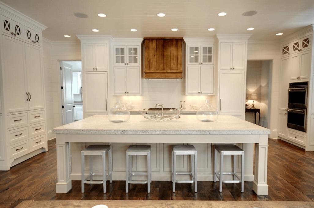 Ретро стиль в белой кухне