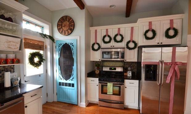 Венки в качестве украшения кухни