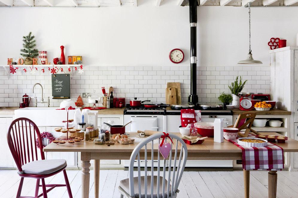 Белоснежное оформление кухни