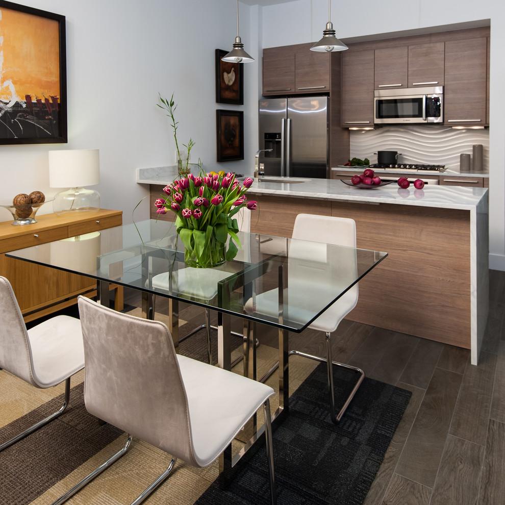 Интерьеры кухонь со стеклянным столом