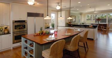 Яркий дизайн острова в интерьере кухни от Archipelago Hawaii Luxury Home Designs