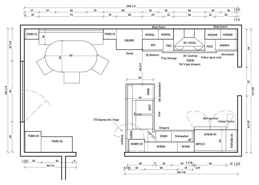 План-схема кухни
