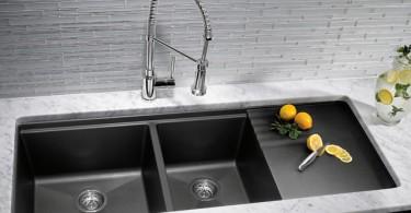 Эстетичная раковина из гранитного композита в интерьере кухни от Westheimer Plumbing & Hardware