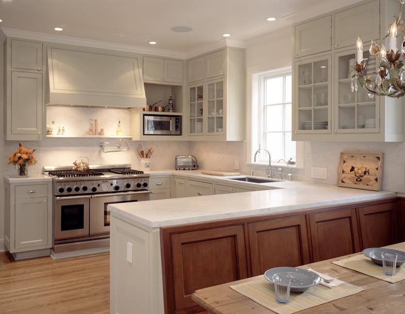 Оригинальный дизайн интерьера кухни в светлых оттенках
